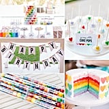 A Sweet Rainbow-Heart Birthday Party