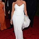 Donna Karan wore white to fashion's big night out.