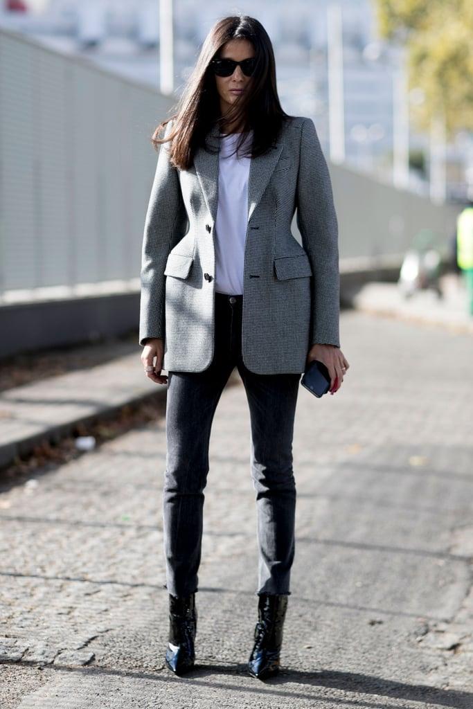 Balenciaga jacket at Paris Fashion Week Spring 2017