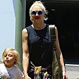 Gwen Stefani is clearly no stranger to bold sunglasses. This pair is blue with an oversize round shape by Quay Eyewear. These G.V.G.V. round sunglasses ($349) will help you achieve her funky look.