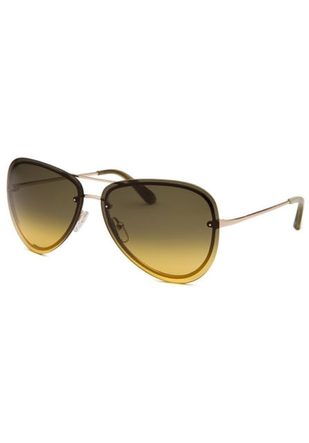 Calvin Klein Unisex Aviator Gold-Tone Sunglasses