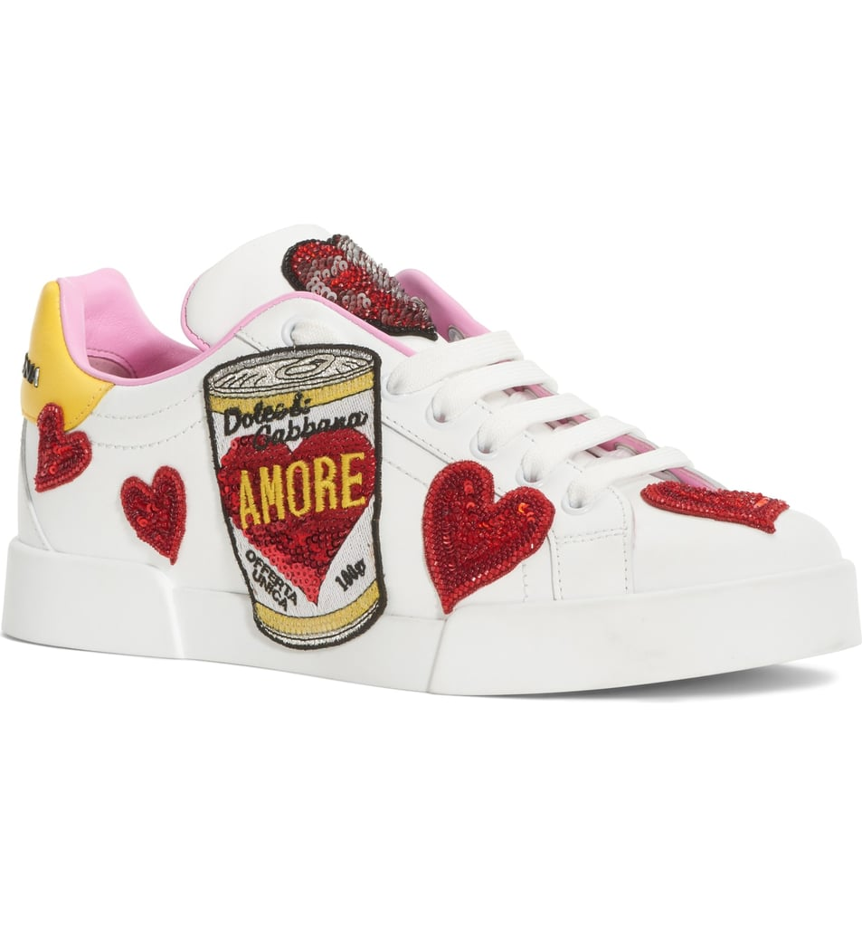 Dolce&Gabbana Amore Lace-Up Sneakers
