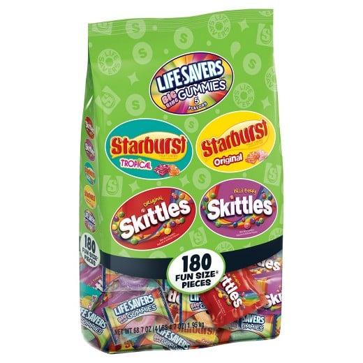 Skittles, Starburst, and Life Savers Gummies Mix, 80+ Pieces