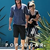 Miley Cyrus and Liam Hemsworth were at Winsor Pilates.