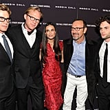 Simon Baker, Paul Bettany, Demi Moore, Kevin Spacey, and Penn Badgley star in a new film about the financial crises.