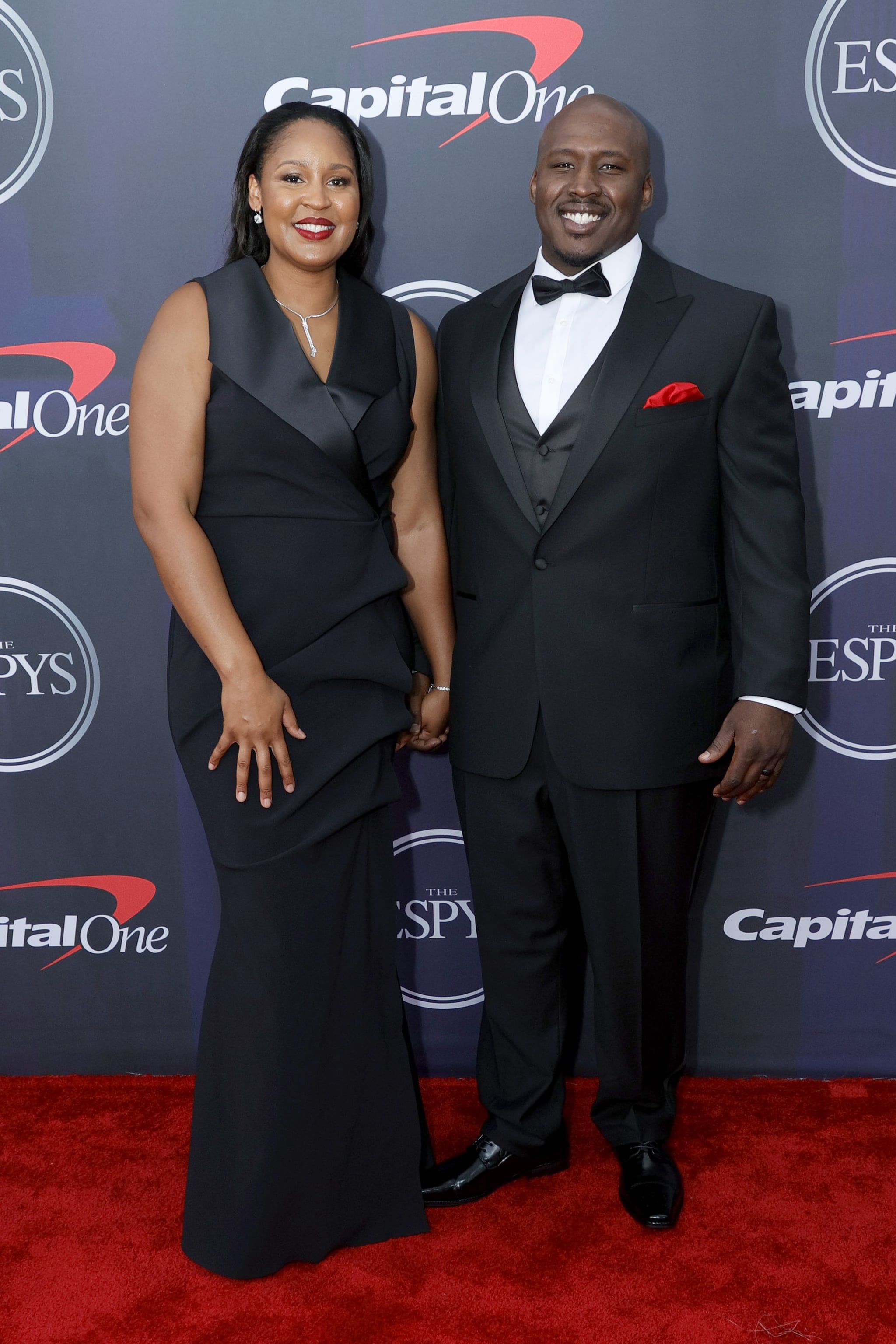 NEW YORK, NEW YORK - JULY 10: (L-R) Maya Moore and Jonathan Irons attend the 2021 ESPY Awards at Rooftop At Pier 17 on July 10, 2021 in New York City. (Photo by Michael Loccisano/Getty Images)