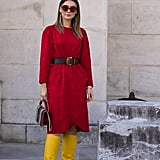Make a Statement in Yellow Knee-High Boots