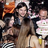 Ashton Kutcher with Lorene Scafaria in Greece.