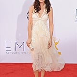 As an avid wearer of the brand, Kristen Wiig stepped out in a delicate cream-hued number at the 2012 Emmy Awards.