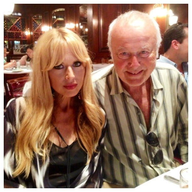 Rachel Zoe had a post-NYFW lunch with her dad after showing her Spring 2014 collection on the runway. Source: Instagram user rachelzoe