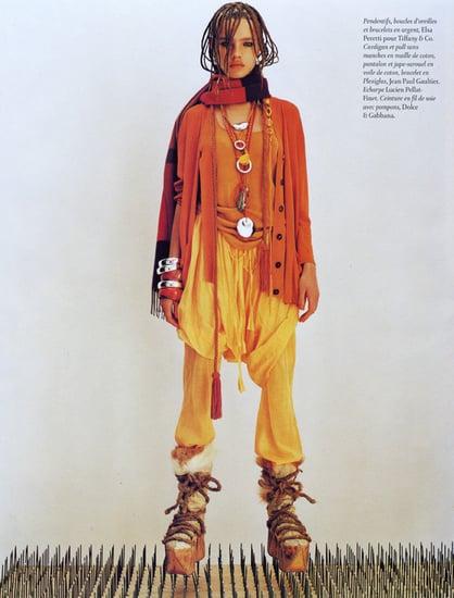 Natalia Vodianova does Vogue Paris june/july 2002