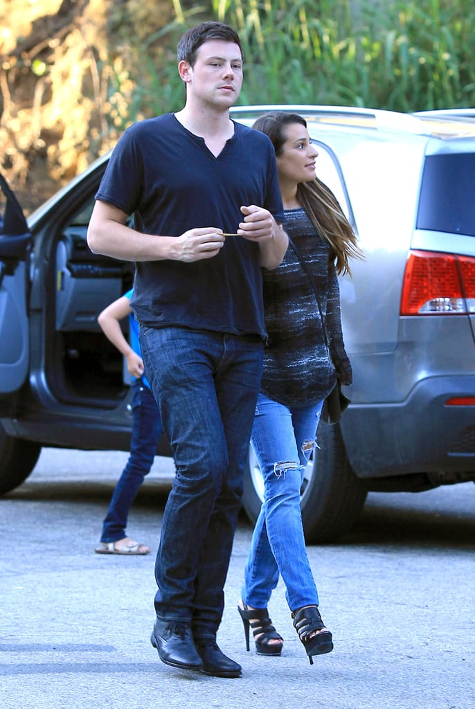 Lea Michele and Cory Monteith Show PDA on a Lunch Date