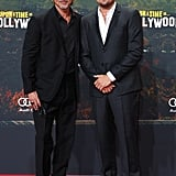 Brad Pitt and Leonardo DiCaprio at the Berlin premiere of Once Upon a Time in Hollywood.