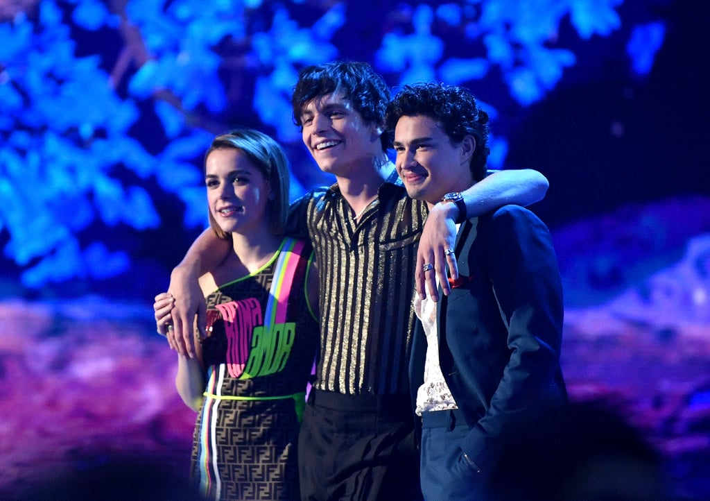 Kiernan Shipka, Ross Lynch, and Gavin Leatherwood at the 2019 MTV Movie and TV Awards