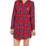 Lauren Ralph Lauren Cotton Flannel Brushed Twill His Shirt Sleepshirt