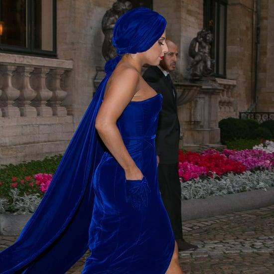 Lady Gaga Blue Stuart Weitzman Sandals