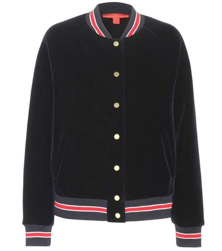 Tommy Hilfiger x Mytheresa.com Exclusive Varsity Velvet Bomber Jacket ($456)
