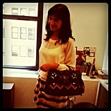 Fashionologie's Christina Perez modeled a bit of Mulberry arm candy that showed up in the office.