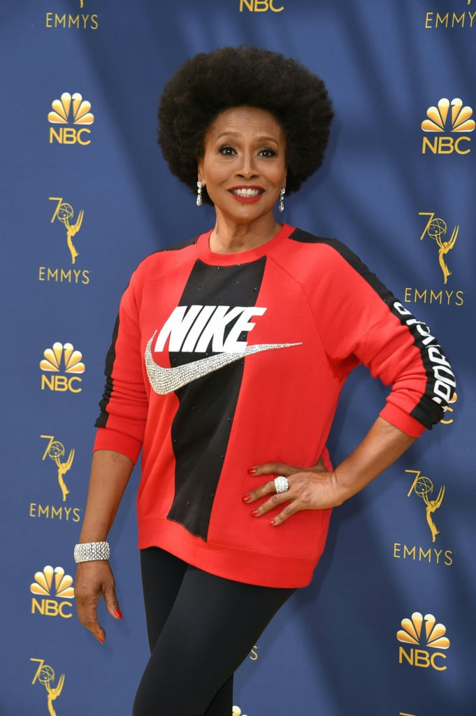 d5bee1f569e7c Jenifer Lewis Nike Outfit at the 2018 Emmys | POPSUGAR Fashion ...