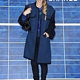 Laura Bailey rocked a two-tone Chanel jacket as her outfit statement piece.