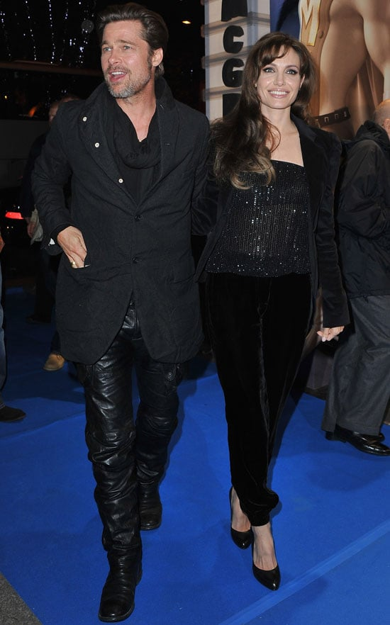 Pictures of Brad Pitt and Angelina Jolie at Megamind Premiere in Paris