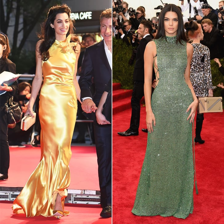 Amal and Kendall Can Both Work a Slinky Dress