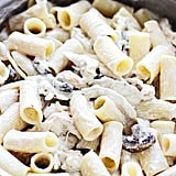 Creamy Rigatoni With Roasted Garlic, Mushrooms, and Chicken