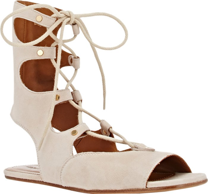 Chloé Suede Gladiator Sandal ($995)