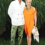 Stefano Tonchi and Cindy Sherman made a dynamic duo at the Watermill Center's Devil's Heaven bash.