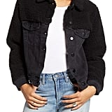 Ten Sixty Sherman Denim Jacket With Faux Shearling