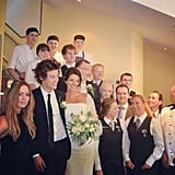 Harry Styles played the role of best man at his mom Anne Cox's wedding in Cheshire, England, in June 2013. Source: Instagram user gemmastagram