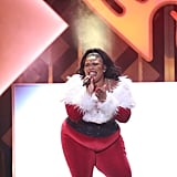Lizzo at iHeartRadio's Jingle Ball in NYC