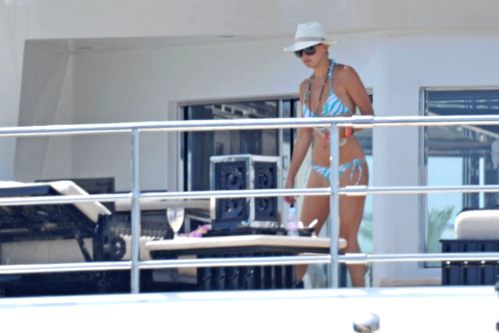 Kate spent time relaxing on Sir Philip Green's boat while vacationing in St. Tropez in June 2012.