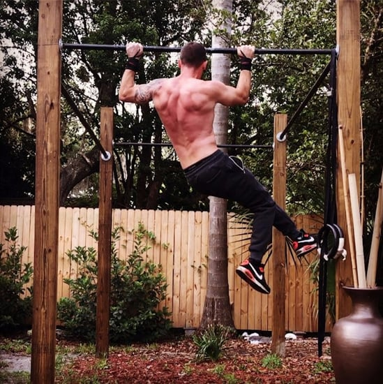 Marine Michael Eckert Doing Pull-Ups