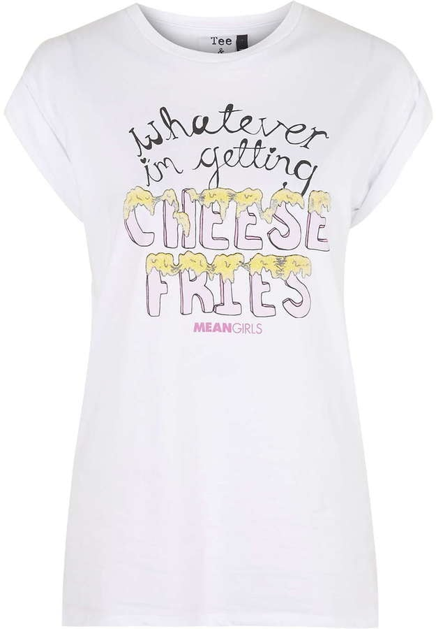 Topshop Tee and Cake Cheese Fries Print Tee ($40)