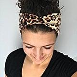 Happily Freed Style Cheetah Print Twisted Headband