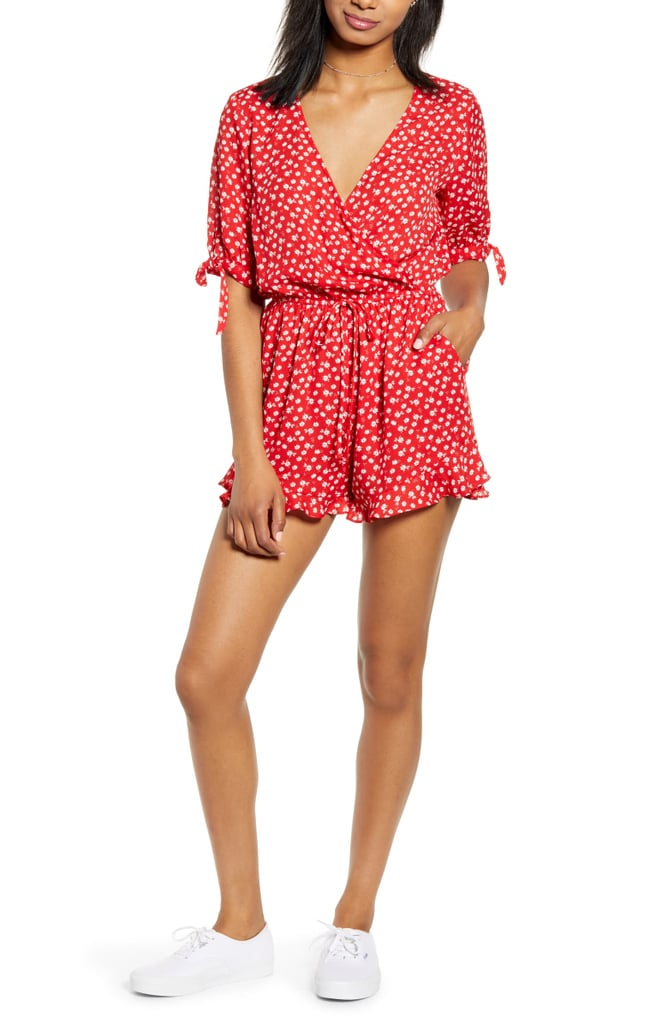 One Clothing Floral Tie Detail Romper