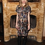 Kate Bosworth slipped into a multicolored print Mulberry sheath and motorcycle boots while out and about in Park City.
