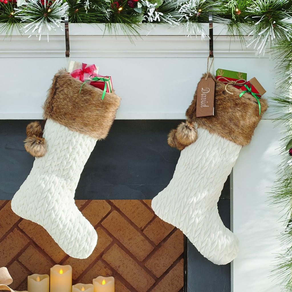 Quilted Velvet Stocking
