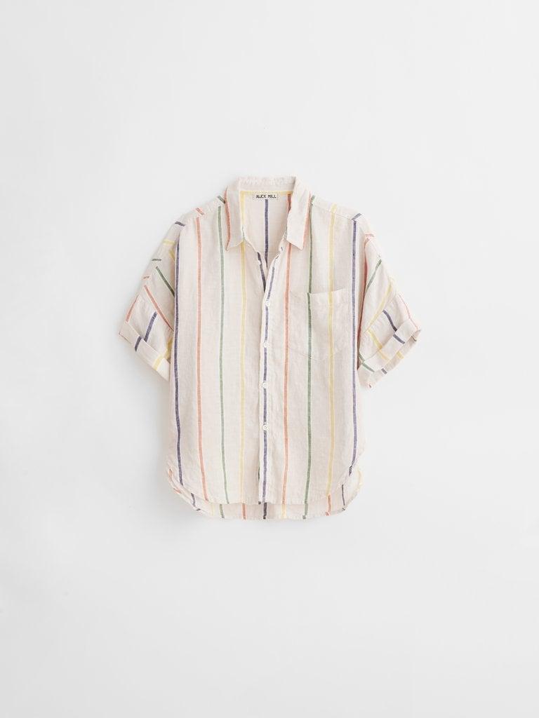Charlie Shirt in Sugar Stripe Linen