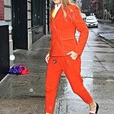 Blake's Orange Pantsuit