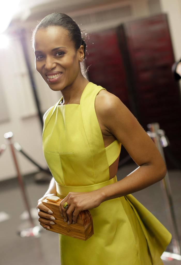 Kerry Washington waited around backstage. Source: Billy Farrell/BFANYC.com