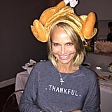 Kristin Chenoweth showed her Thanksgiving spirit with a festive outfit.