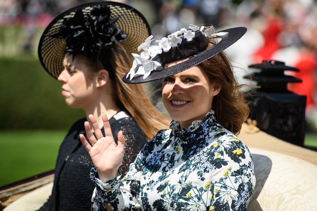Princess Eugenie Wearing Erdem at Royal Ascot