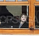 Shiloh Jolie-Pitt made faces in Amsterdam.