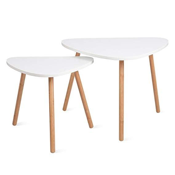 HOMFA Midcentury Modern Coffee End Tables