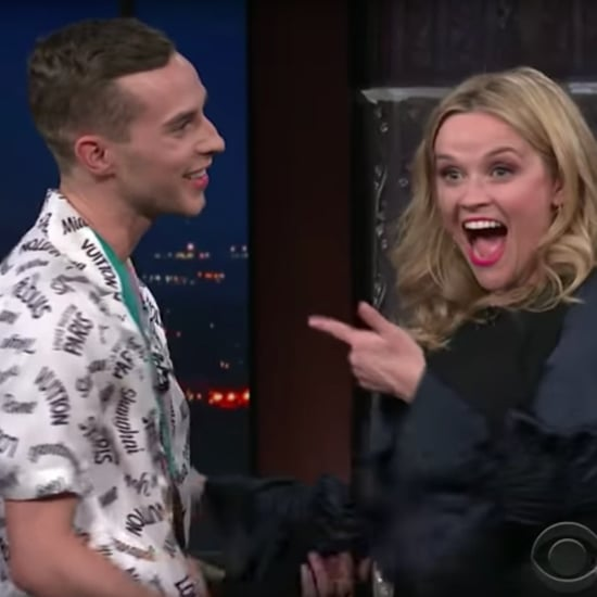 Reese Witherspoon Meeting Adam Rippon on The Late Show Video