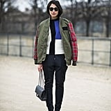 Who knew? Colorblocking and plaid actually play perfectly together. Source: Le 21ème | Adam Katz Sinding