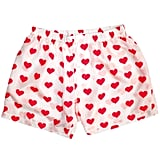 White Silk Heart Boxers