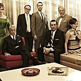 Joan Harris, Roger Sterling, Lane Pryce, Pete Campbell, Don Draper, Bert Cooper, and Peggy Olson